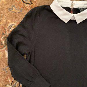 Beautiful Ann Taylor Sweater w/ Contrasting Collar
